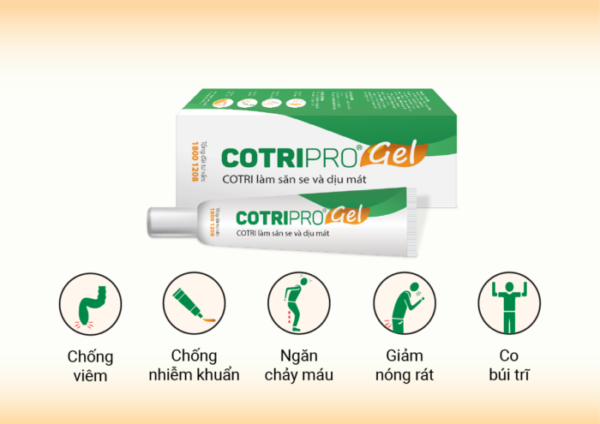 6.Hiệu quả sử dụng Cotripro Gel như thế nào? Nên dùng trong bao lâu? 1