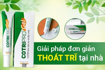 Cotripro – Gel bôi giúp co trĩ và giảm đau rát nhanh chóng