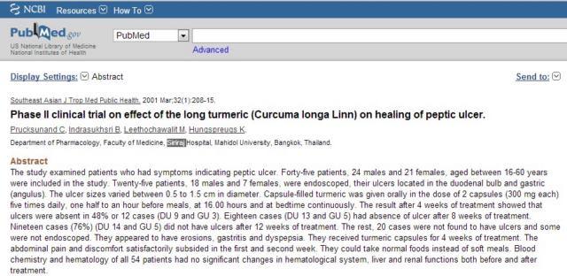 Những nghiên cứu về tác dụng chống viêm, nhanh lành vết thương của nghệ 2